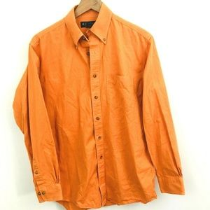 Brooks Brothers Orange Button Down Shirt Small